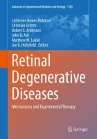 Cover image for Retinal Degenerative Diseases Mechanisms and Experimental Therapy