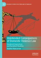 Cover image for Unintended Consequences of Domestic Violence Law Gendered Aspirations and Racialised Realities