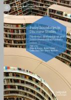 Cover image for Fuzzy Boundaries in Discourse Studies Theoretical, Methodological, and Lexico-Grammatical Fuzziness