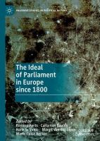 Cover image for The Ideal of Parliament in Europe since 1800