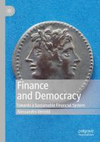 Cover image for Finance and Democracy Towards a Sustainable Financial System