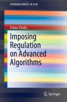 Cover image for Imposing Regulation on Advanced Algorithms