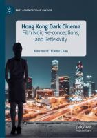Cover image for Hong Kong Dark Cinema Film Noir, Re-conceptions, and Reflexivity