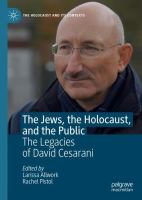 Cover image for The Jews, the Holocaust, and the Public The Legacies of David Cesarani