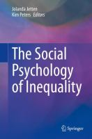 Cover image for The Social Psychology of Inequality