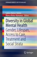 Cover image for Diversity in Global Mental Health Gender, Lifespan, Access to Care, Treatment and Social Strata