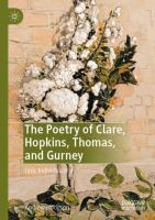 Cover image for The Poetry of Clare, Hopkins, Thomas, and Gurney Lyric Individualism