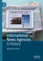 Cover image for International News Agencies A History