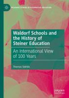 Cover image for Waldorf Schools and the History of Steiner Education An International View of 100 Years