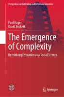 Cover image for The Emergence of Complexity Rethinking Education as a Social Science