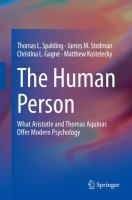 Cover image for The Human Person What Aristotle and Thomas Aquinas Offer Modern Psychology