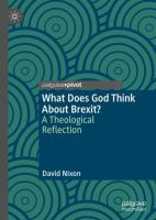 Cover image for What Does God Think About Brexit? A Theological Reflection