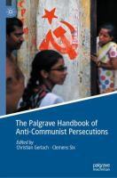 Cover image for The Palgrave handbook of anti-communist persecutions