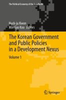 Cover image for The Korean Government and Public Policies in a Development Nexus, Volume 1