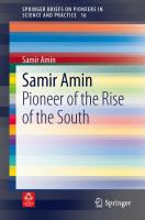 Cover image for Samir Amin Pioneer of the Rise of the South