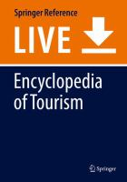 Cover image for Encyclopedia of Tourism