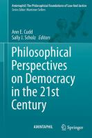Cover image for Philosophical Perspectives on Democracy in the 21st Century