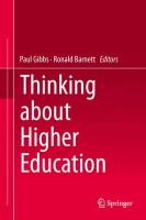 Cover image for Thinking about Higher Education
