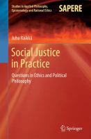 Cover image for Social Justice in Practice Questions in Ethics and Political Philosophy