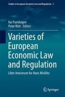 Cover image for Varieties of European Economic Law and Regulation Liber Amicorum for Hans Micklitz