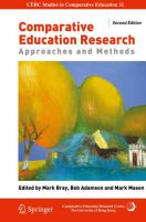 Cover image for Comparative Education Research Approaches and Methods