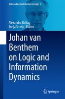 Cover image for Johan van Benthem on Logic and Information Dynamics