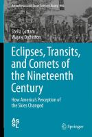 Cover image for Eclipses, Transits, and Comets of the Nineteenth Century How America's Perception of the Skies Changed