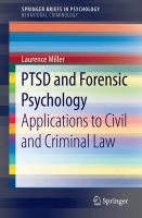 Cover image for PTSD and Forensic Psychology Applications to Civil and Criminal Law