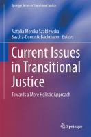 Cover image for Current Issues in Transitional Justice Towards a More Holistic Approach