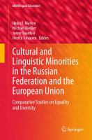Cover image for Cultural and Linguistic Minorities in the Russian Federation and the European Union Comparative Studies on Equality and Diversity