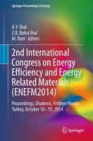 Cover image for 2nd International Congress on Energy Efficiency and Energy Related Materials (ENEFM2014) Proceedings, Oludeniz, Fethiye/Mugla, Turkey, October 16-19, 2014