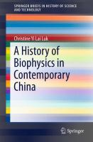 Cover image for A History of Biophysics in Contemporary China