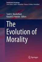 Cover image for The Evolution of Morality