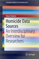 Cover image for Homicide Data Sources An Interdisciplinary Overview for Researchers
