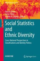 Cover image for Social Statistics and Ethnic Diversity Cross-National Perspectives in Classifications and Identity Politics
