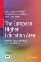 Cover image for The European Higher Education Area Between Critical Reflections and Future Policies