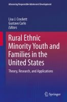 Cover image for Rural Ethnic Minority Youth and Families in the United States Theory, Research, and Applications