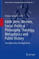 Cover image for Edith Stein: Women, Social-Political Philosophy, Theology, Metaphysics and Public History New Approaches and Applications
