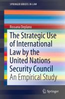 Cover image for The Strategic Use of International Law by the United Nations Security Council An Empirical Study