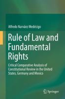Cover image for Rule of Law and Fundamental Rights Critical Comparative Analysis of Constitutional Review in the United States, Germany and Mexico