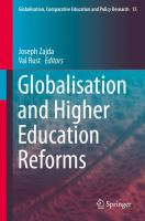 Cover image for Globalisation and Higher Education Reforms