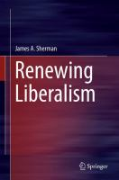 Cover image for Renewing Liberalism