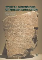 Cover image for Ethical Dimensions of Muslim Education