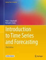 Cover image for Introduction to Time Series and Forecasting