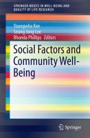 Cover image for Social Factors and Community Well-Being