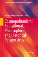 Cover image for Cosmopolitanism: Educational, Philosophical and Historical Perspectives