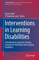 Cover image for Interventions in Learning Disabilities A Handbook on Systematic Training Programs for Individuals with Learning Disabilities