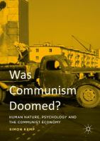 Cover image for Was Communism Doomed? Human Nature, Psychology and the Communist Economy