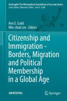 Cover image for Citizenship and Immigration - Borders, Migration and Political Membership in a Global Age