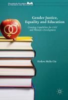 Cover image for Gender Justice, Education and Equality Creating Capabilities for Girls' and Women's Development
